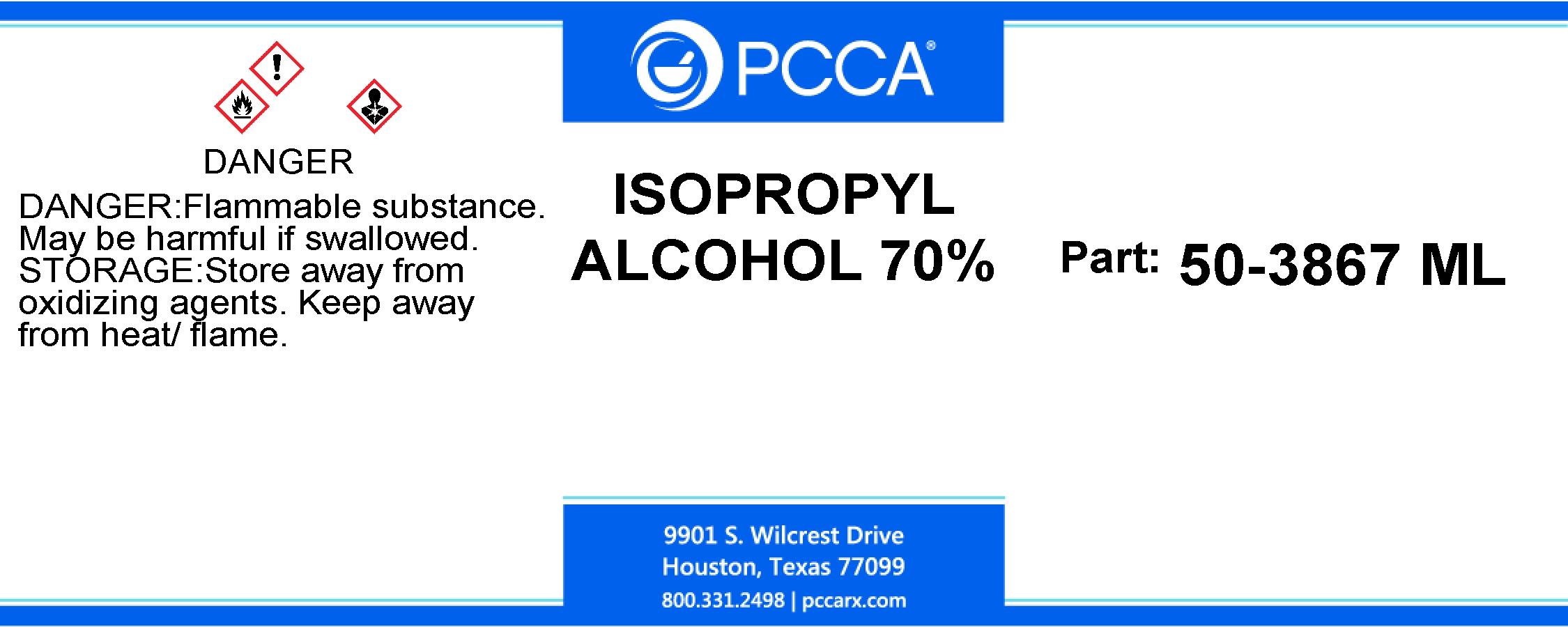 ISOPROPYL ALCOHOL 70% - PCCA
